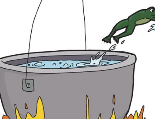 Fábula de la rana y el agua hirviendo